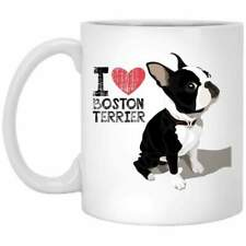 I Love Boston Terrier Dog Mom Gifts Coffee Mug 11oz 15oz Mothers Day Gift