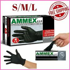 100pcs Disposable Mechanic Nitrile Gloves Black Rubber Medical Exam Anti Bacteri