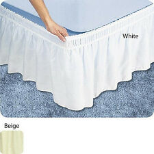 "NEW 18"" DROP WRAP AROUND BED SKIRT / DUST RUFFLE"