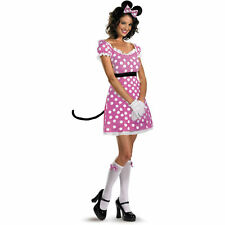 Adult Womans Toon Mickey Mouse Sexy Pink Minnie Costume