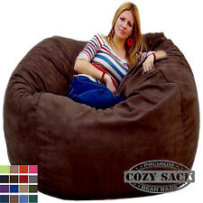 Bean Bag Chairs by Cozy Sack Factory Direct Large 5' Foam Filled Micro Suede