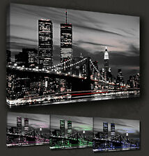 NEW YORK TWIN TOWERS TRIBUTE CANVAS PRINT POP ART MANY COLOURS TO CHOOSE FROM