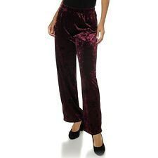 Carolyn Strauss Velvet Palazzo Pants BLACK or MULBERRY $39.90 CSC Studio