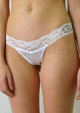 S M L XL White Seductive Low Rise Lace/Satin Bridal G-string Thong Panty Brief