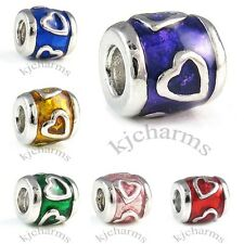 Heart Silver European Spacer Charm Bead For Bracelet Necklace