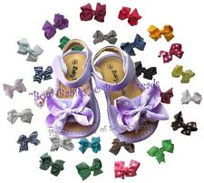 Girls Squeaky Shoes Lavender Sandal Add A Bow U-Choose Bow Color and Size Easy!