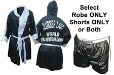 Adult Movie Rocky III Balboa Boxing Clubber Lang World Champ Robe Shorts Costume