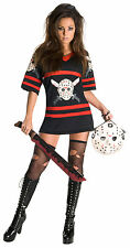 Adult Horror Movie Friday the 13th Sexy Miss Jason Voorhees Halloween Costume