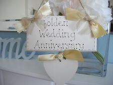 Wedding Anniversary Plaque - Gift for Silver, Pearl, Ruby, Golden