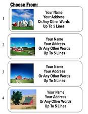 30 Country Scene / Country Barn Personalized Address Labels