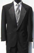 Mens Black One Button Notch Tuxedo Package Prom Wedding Discount Bargain 42S