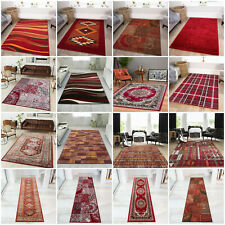 New Cheap MODERN RED RUGS RUNNERS online UK Small Medium Extra Large Quality Rug
