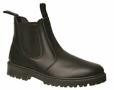 GROSBY RUSTLE KIDS/YOUTHS SHOES/ELASTIC BOOTS/PULL ON BLACK LEATHER AUS SIZES!