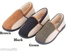 MEN'S SLIPPERS LOAFERS BLACK GREEN BROWN SIZES 7 8 9 10 11 12