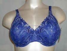 Playtex 7576 4513 Embroidered Back Smoothing Underwire Bra Blue