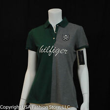 Tommy Hilfiger Women's Polo Green-Gray NWT