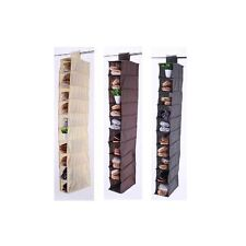 10 Section Hanging Shoe Rack Organiser Storage Stand