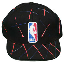 New! NBA Logo Hat- Fitted Flatbill 3D Embroidered Cap - Reebok - Black