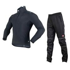 Sobike Fleece Jacket-Alien Black & Fleece Pants-Gelimo Cycling Suits Winter Warm