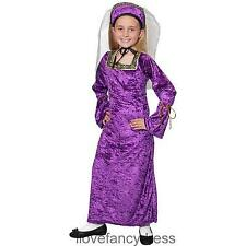 TUDOR GIRL COSTUME MEDIEVAL PRINCESS SCHOOL CURRICULUM FANCY DRESS POSH RICH