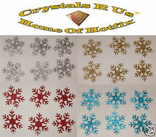 GLITTER 1inch SNOWFLAKE iron-on CUSTOMIZE CHRISTMAS CRAFT TSHIRT TRANSFER PATCH