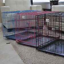 FOLDABLE METAL WIRE DOG CAGE DOG CRATE KENNEL SUITCASE