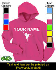 PERSONALISED GIRLS BALLET DANCER HOODIE / HOODIES - GREAT GIFT & NAMED TOO