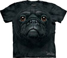 Black Pug Dog Face The Mountain Adult & Youth (Child) T-Shirts
