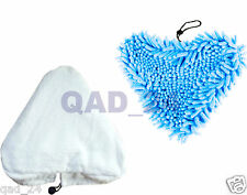White Cloth / BLUE CORAL STEAM Cleaning Pads H2O H20 Vax S2 Hot Mop Replacement