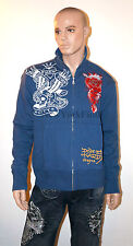ED HARDY Christian Audigier ZIP UP JACKET SWEATER New York City Eagle XL XXL 2XL