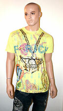 CHRISTIAN AUDIGIER Ed Hardy F RICH Money $ T-Shirt RHINESTONE Bling Shirt Men's