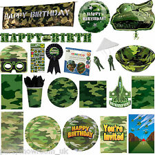 Army Forces Camouflage Soldier Party Tableware Decorations 1 Listing PS