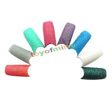 Acrylic Mix Color Glitter Sparkle Slice French False Nail Art Tips Design 10pcs
