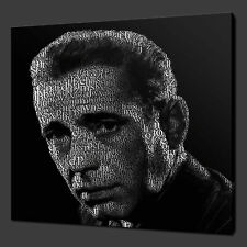 HUMPHREY BOGART ICONIC FILM MODERN CANVAS PRINT POP ART MANY COLOURS FREE UK P&P