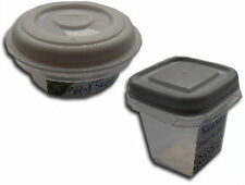 NEW Small Mini Plastic Container Tupperware Boxes Lid Kitchen Storage Food Herbs