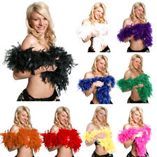 FEATHER BOA 80 GRAMS 6 FOOT LONG THICK BURLESQUE 1920S FANCY DRESS CHOOSE COLOUR