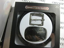 NWT NEW Rock & Republic Mix and Match Belt PREMIUM LEATHER 2 BUCKLES ONE BELT