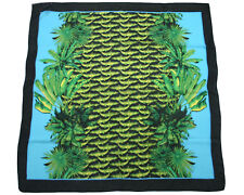 Versace for H&M Pink Yellow Leopard Print Green Blue Crocodile Logo Scarf BNWT