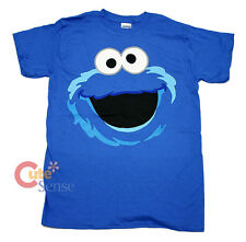 Sesame Street Elmo Cookie Monster Face T Shirts Adult Men Woman Size (S to XL)
