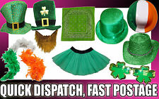ST PATRICKS DAY FANCY DRESS PARTY SHAMROCK HATS FEATHER BOA CLOVER GARLAND IRISH