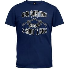 One Shot One Kill Navy Adult Mens T-Shirt