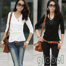 3 Colors New Fashion womens Lady's long sleeve casual tops & blouse T shirt