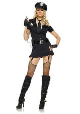 Sexy Naughty Dirty Police Officer Cop Outfit Dress n Hat Adult Halloween Costume