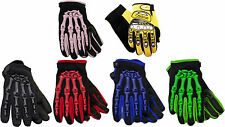 YOUTH Kids Off Road Motocross Gloves -  Black Yellow Blue Red Green Pink