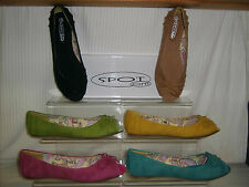SALE Spot On ladies flat peep-toe casual shoe PU with bow various colours F1929