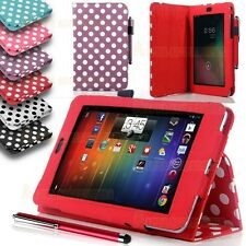 Polka PU Leather Folio Stand Case Cover For Asus Google Nexus 7 1st Gen 2012