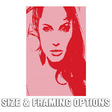 ANGELINA JOLIE POP ART HIGH QUALITY MODERN URBAN CANVAS PRINT WALL DECOR