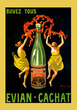 Spring Mineral Water Evian Cachat Girl Dance by Cappiello Poster Repro FREE S/H