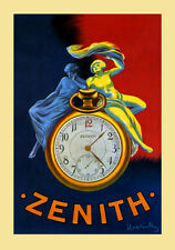 Couple Enjoying Zenith Watch Clock by Cappiello Vintage Poster Repro FREE S/H