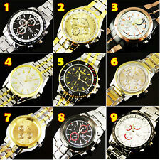 FREE SHIPPING NEW LUXURY WATCHES MEN'S QUARTZ STAINLESS STEEL WRIST WATCH